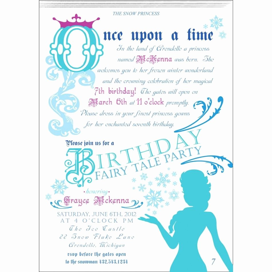 Frozen Baby Shower Invitations Fresh Frozen Princess Tea Party Birthday Ideas