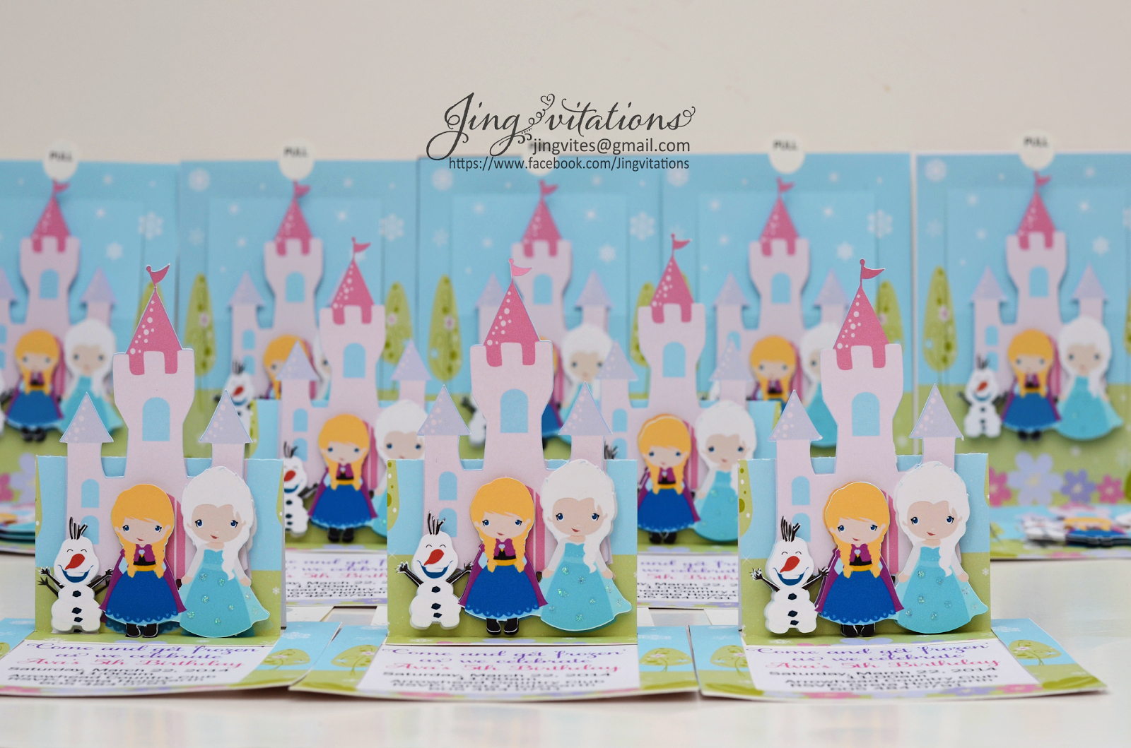 Frozen Baby Shower Invitations New Birthday and Baby Shower Invitations Handmade Frozen Snow
