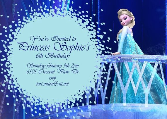 Frozen Birthday Card Printable Awesome Items Similar to Frozen Birthday Invitation Disney S