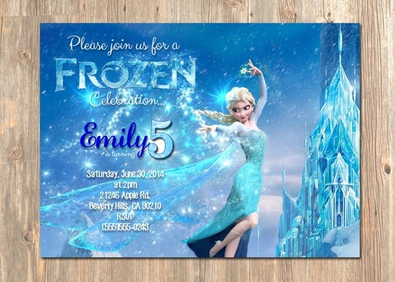 Frozen Birthday Card Printable Best Of Frozen Birthday Invitation Elsa Frozen Invitation Printable