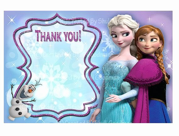 Frozen Birthday Card Printable Elegant Frozen Thank You Cards Printable Diy Digital by