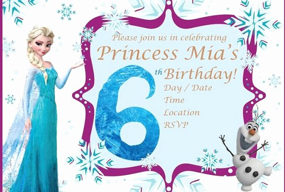 Frozen Birthday Card Printable Fresh Elsa Frozen Birthday Party Invitation Ideas – Bagvania