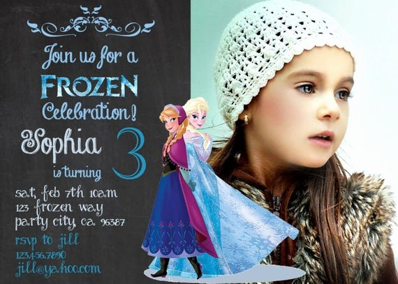Frozen Birthday Card Printable New Items Similar to Frozen Birthday Invitation Disney S