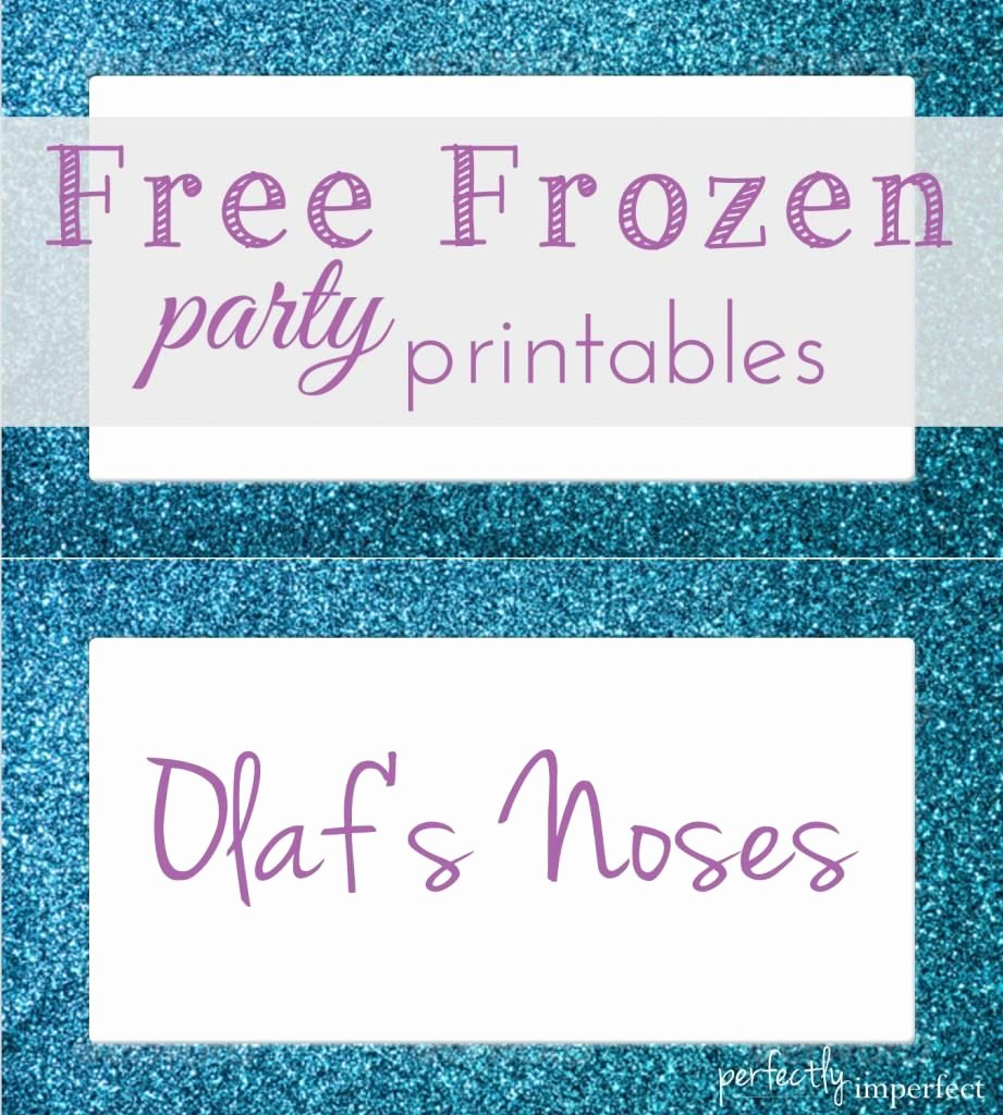 Frozen Birthday Card Printable Unique Free Frozen Party Menu Card Printables