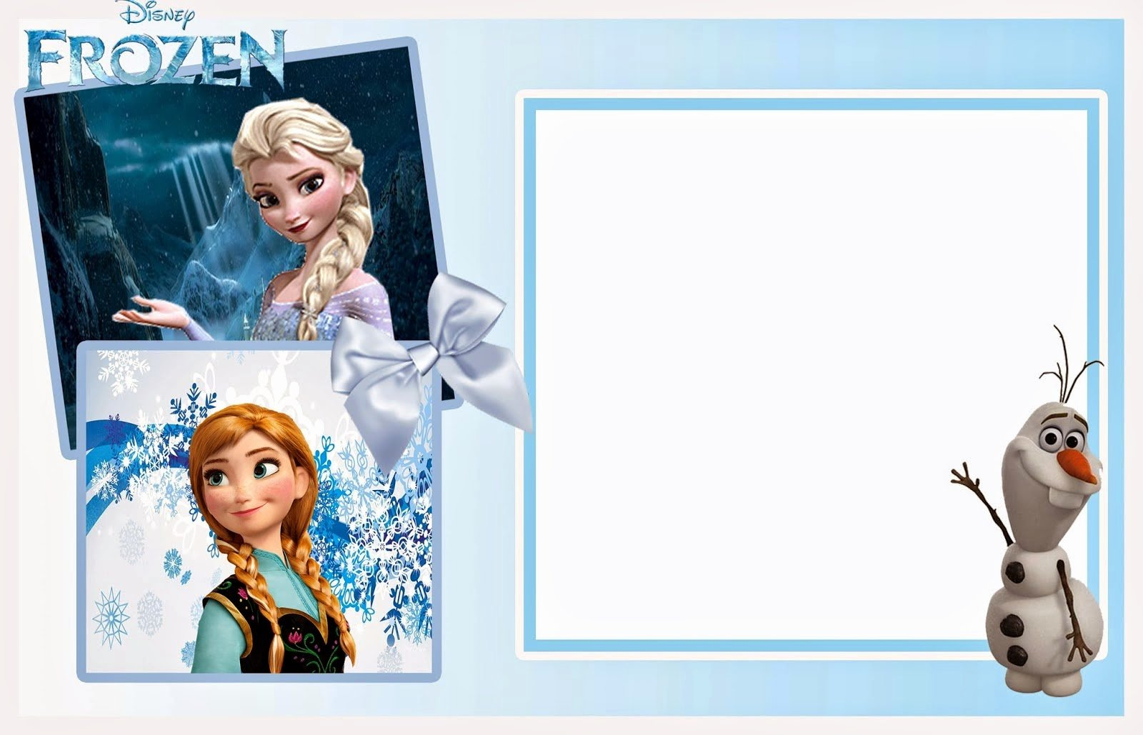 Frozen Birthday Card Printables Beautiful so Cute Frozen Free Printable Invitations Oh My Fiesta