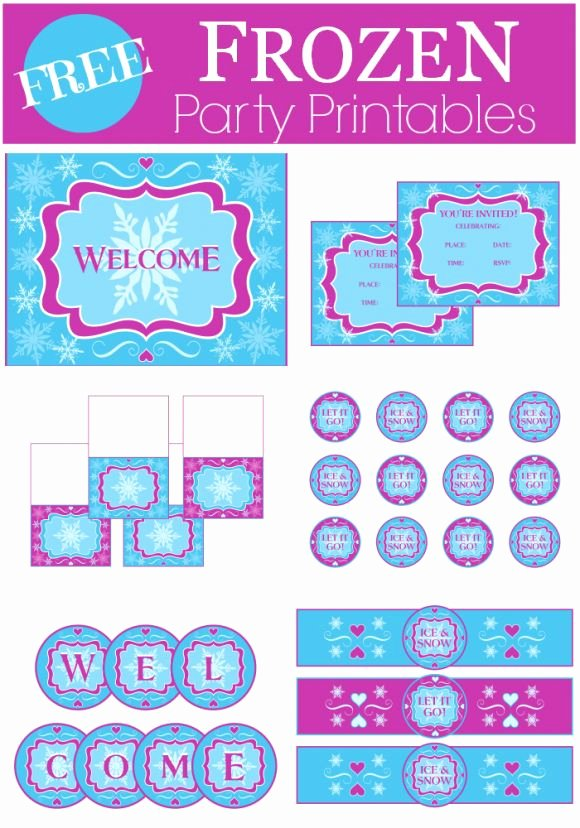 Frozen Birthday Card Printables Best Of Free Frozen Party Printables From Printabelle