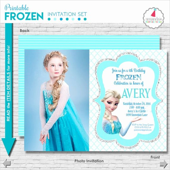 Frozen Birthday Card Printables Fresh Frozen Birthday Invitation Printable Frozen Party Invitation