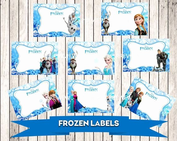 Frozen Birthday Card Printables Lovely Frozen Buffet Food Card Label Disney Frozen by