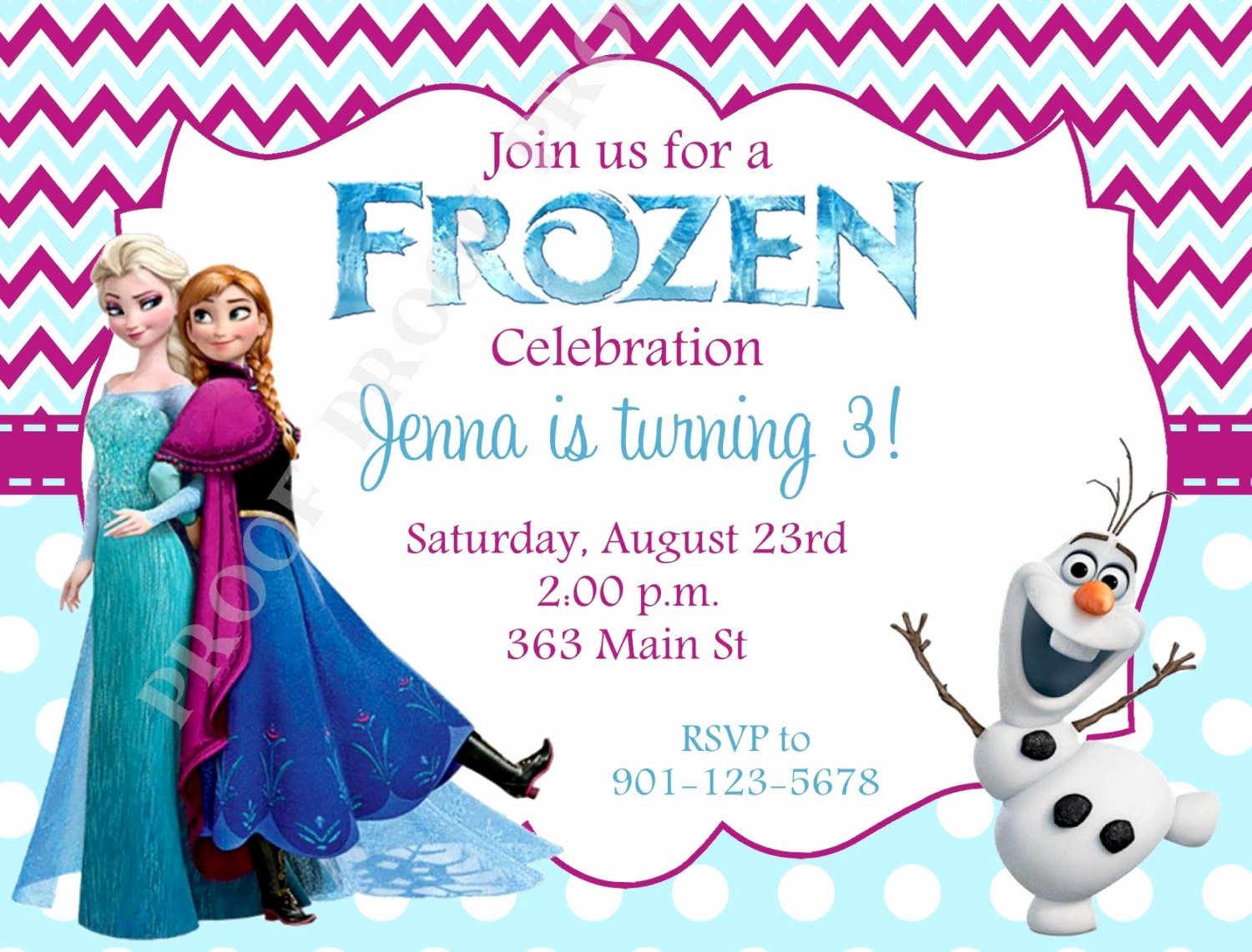 Frozen Birthday Card Printables Unique 10 Printed Frozen Invitations with Envelopes Free Return