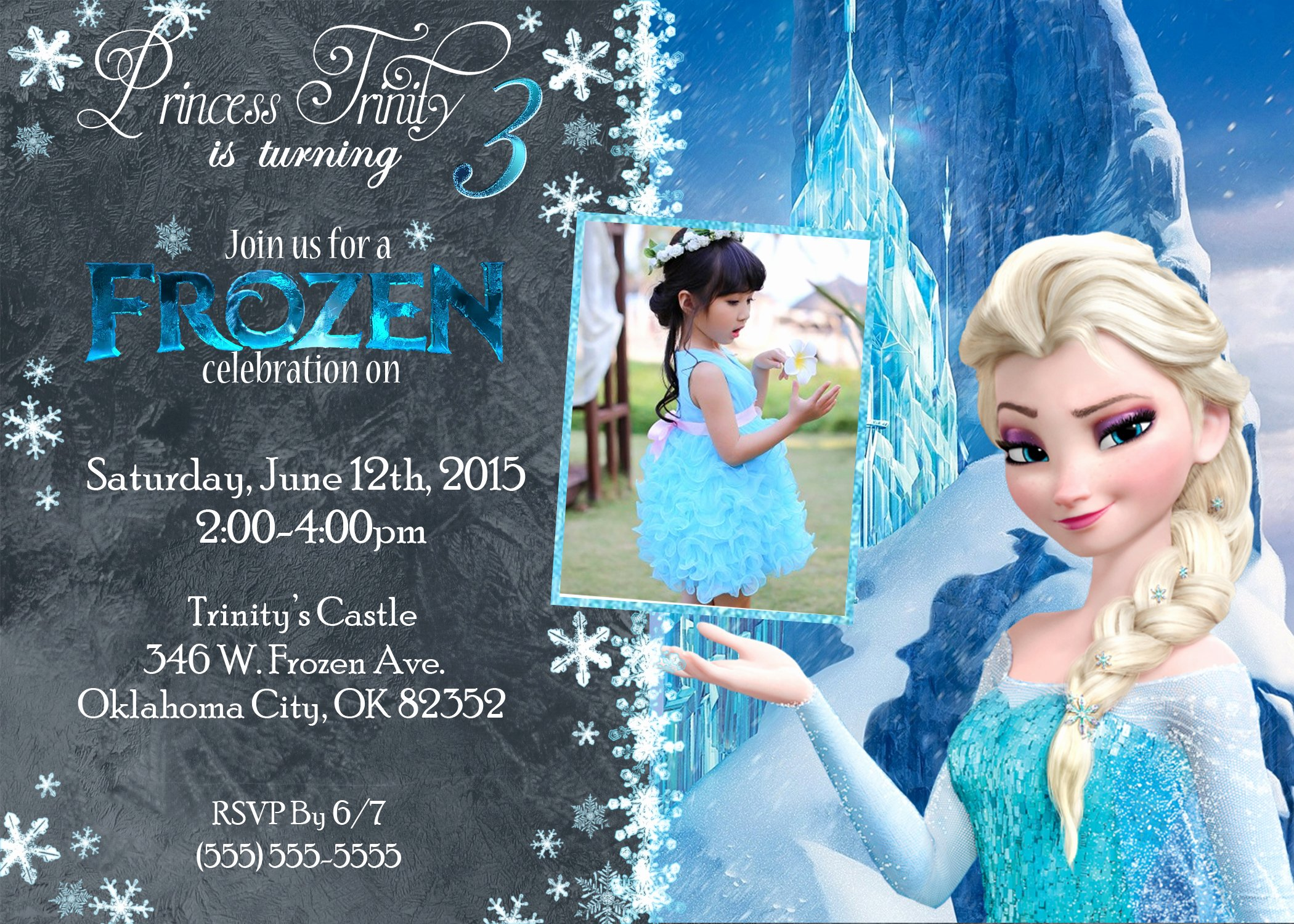 Frozen Birthday Cards Printable Fresh Frozen Birthday Invitations