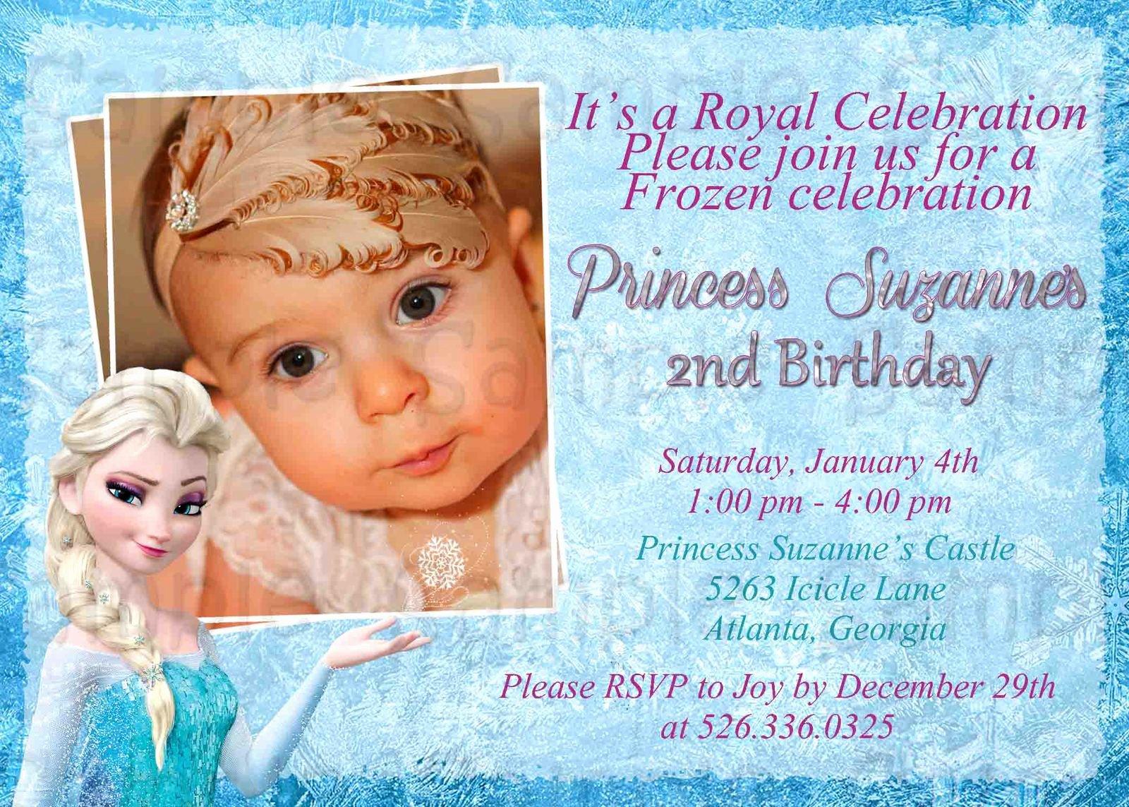 Frozen Birthday Cards Printable Inspirational Custom Disney S Frozen Birthday Invitation Printable