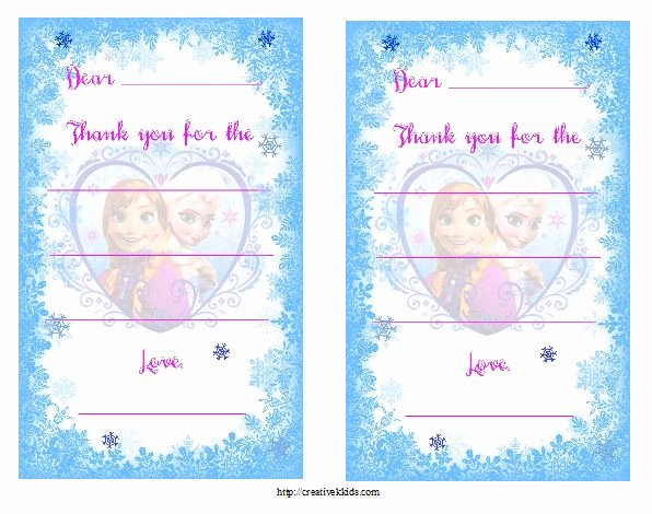 Frozen Birthday Cards Printable Inspirational Free Frozen Birthday Party Invitation and Thank You
