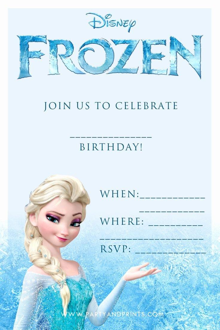 Frozen Birthday Cards Printable Lovely Frozen Birthday Party Invitations Printable Free Google