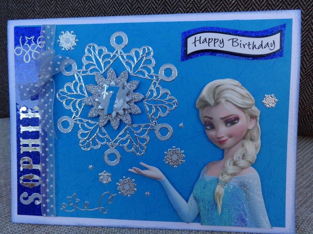 Frozen Birthday Cards Printable Luxury Disney Frozen Girls Personalised Hand Made Birthday Card