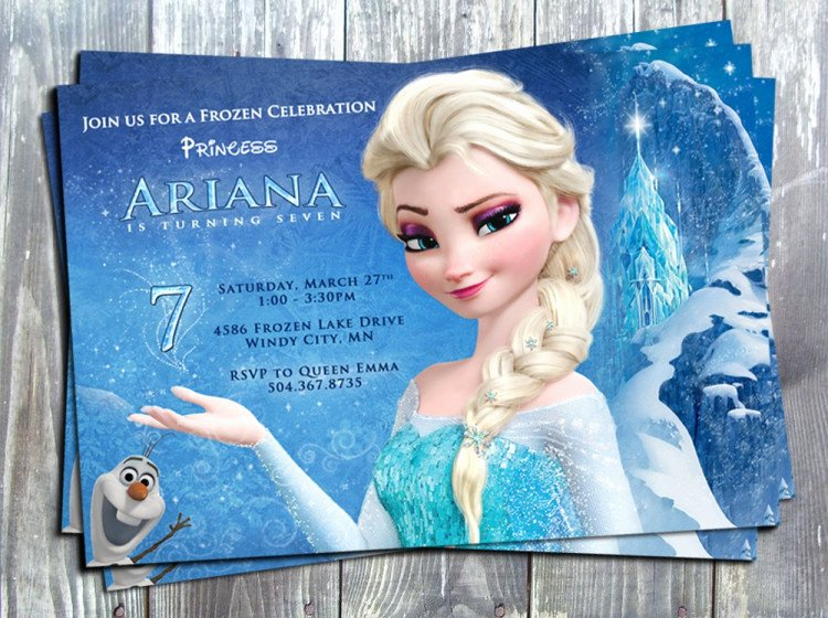 Frozen Birthday Cards Printable Luxury Disney Princess Frozen Elsa Birthday Party Printable