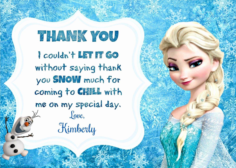 Frozen Birthday Cards Printable Luxury Frozen Thank You Printable Frozen Inspired Thank You Note
