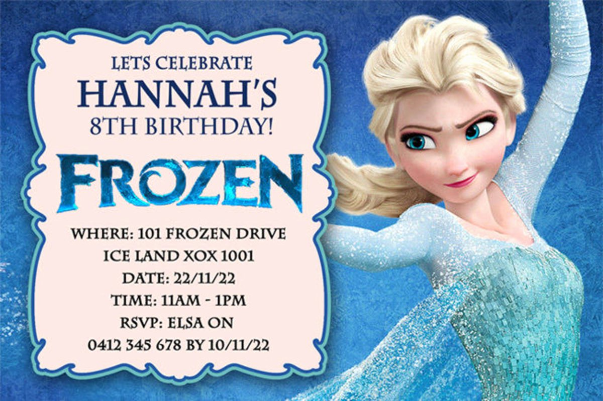 Frozen Birthday Cards Printable New Best Selection Of Frozen Personalized Birthday Invitations