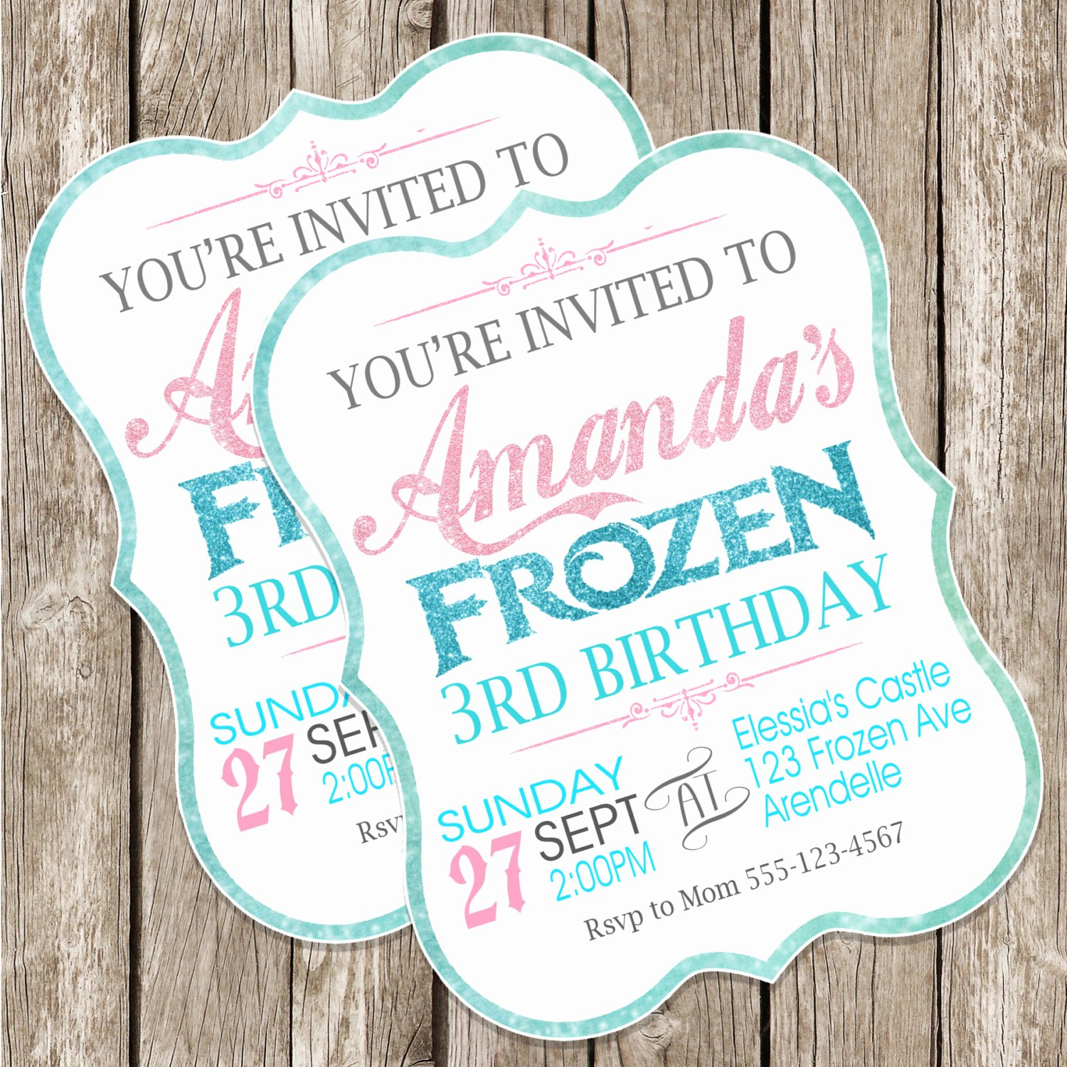 Frozen Birthday Invitations Free Best Of Frozen Birthday Invitation Frozen Birthday Party Diy
