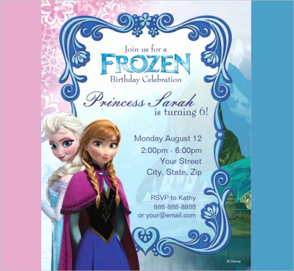 Frozen Birthday Invitations Free Fresh 15 Birthday Invitation Templates In Pdf