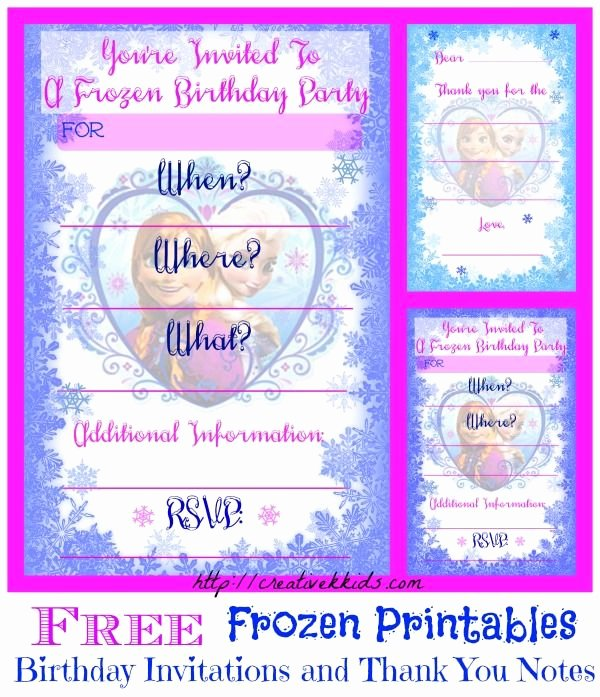 Frozen Birthday Invitations Free Fresh Free Frozen Birthday Party Invitation and Thank You