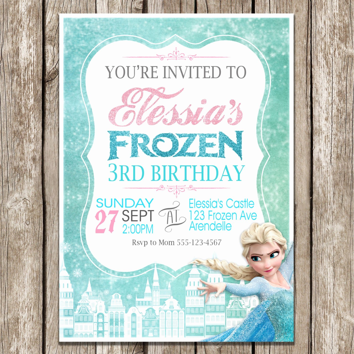 Frozen Birthday Invitations Free Inspirational Frozen Birthday Invitation Frozen Birthday Party Diy