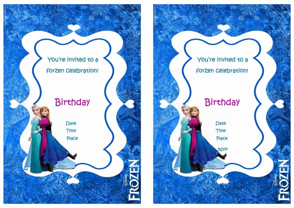 Frozen Birthday Invitations Free Inspirational Frozen Birthday Invitations