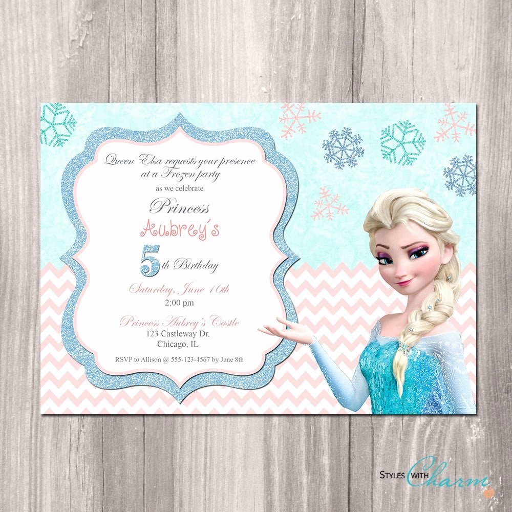 Frozen Birthday Invitations Free Luxury Frozen Birthday Invitation Frozen Printable by Styleswithcharm