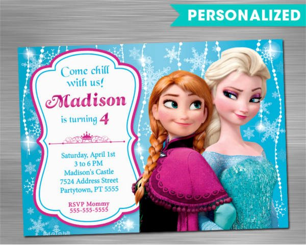 Frozen Birthday Invitations Free New 10 Unique Frozen Birthday Invitations Psd Ai Word