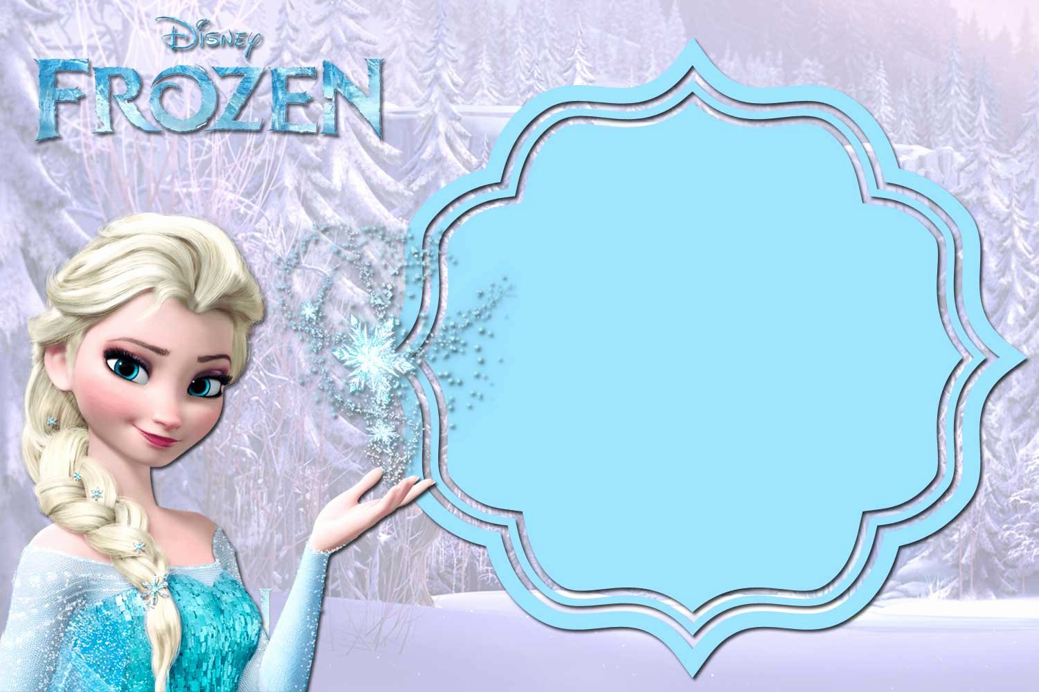 Frozen Birthday Invitations Free New 24 Heartwarming Frozen Birthday Invitations