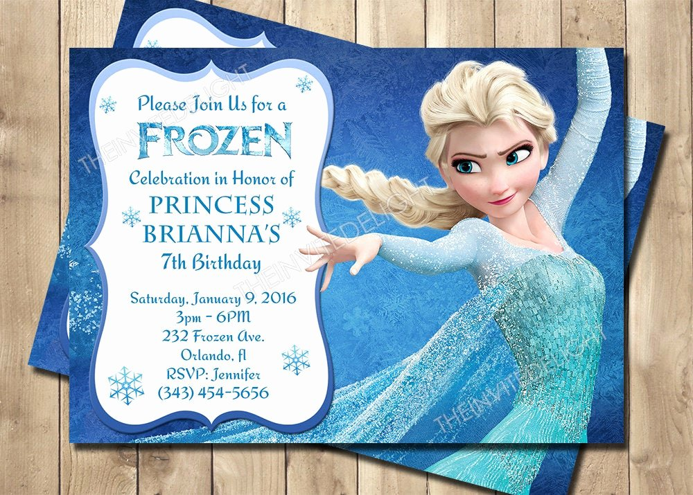 Frozen Birthday Invitations Free New Frozen Birthday Invitation Frozen Princess Elsa Invite