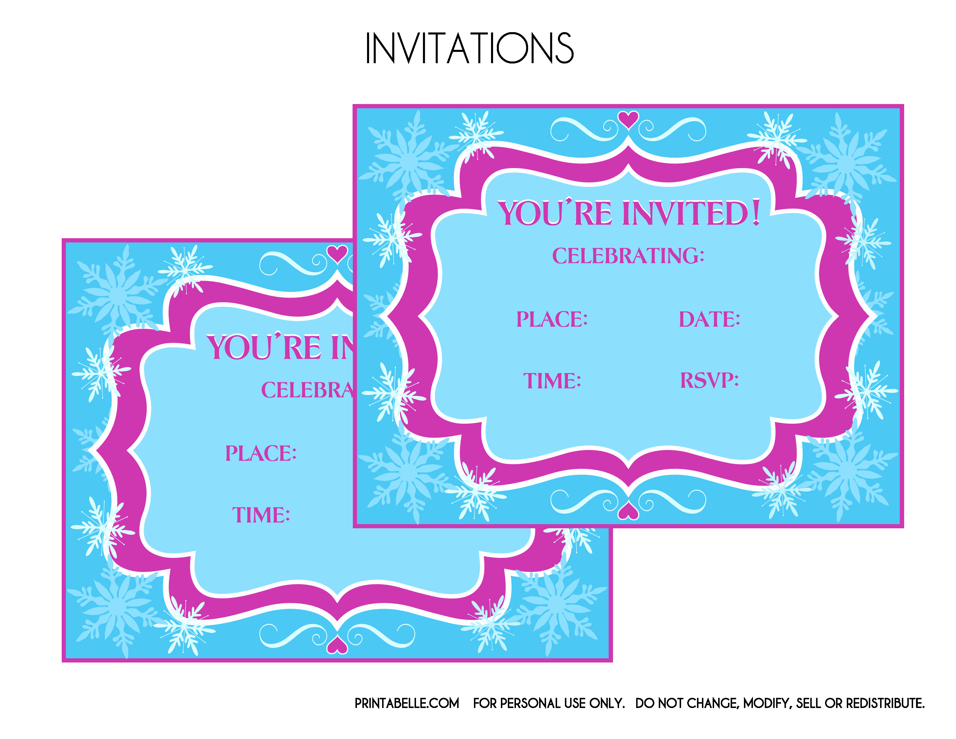 Frozen Birthday Invitations Free Unique Free Frozen Party Printables