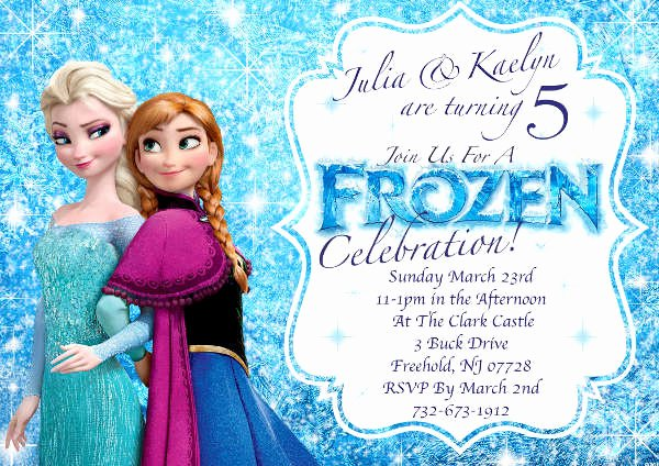 Frozen Party Invitation Template Beautiful 13 Frozen Invitation Templates Word Psd Ai