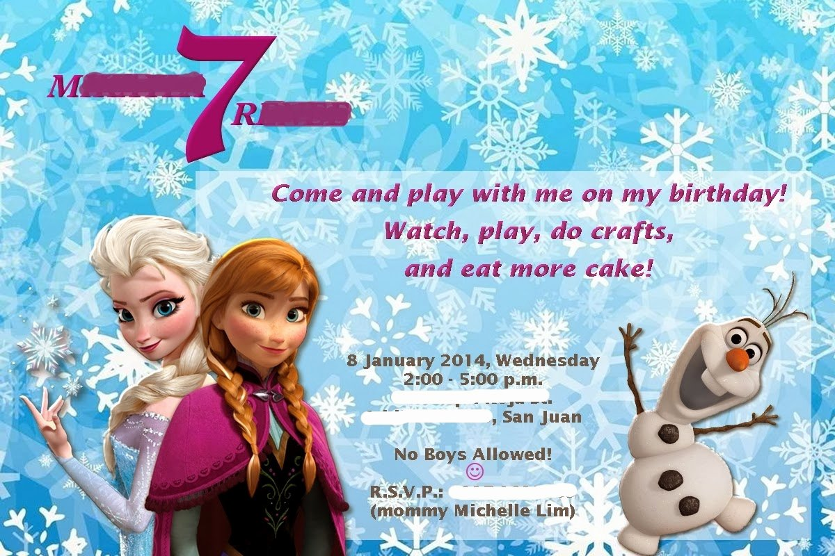 "Frozen Party Invitation Template Best Of My Mom Friday Planning A ""frozen"" Birthday Party with the"