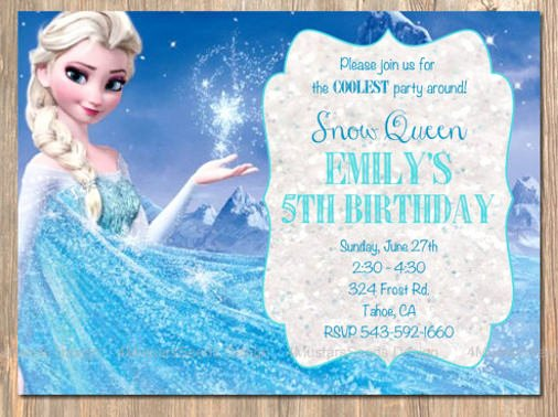 Frozen Party Invitation Template Inspirational 12 Frozen Birthday Invitation Psd Ai Vector Eps