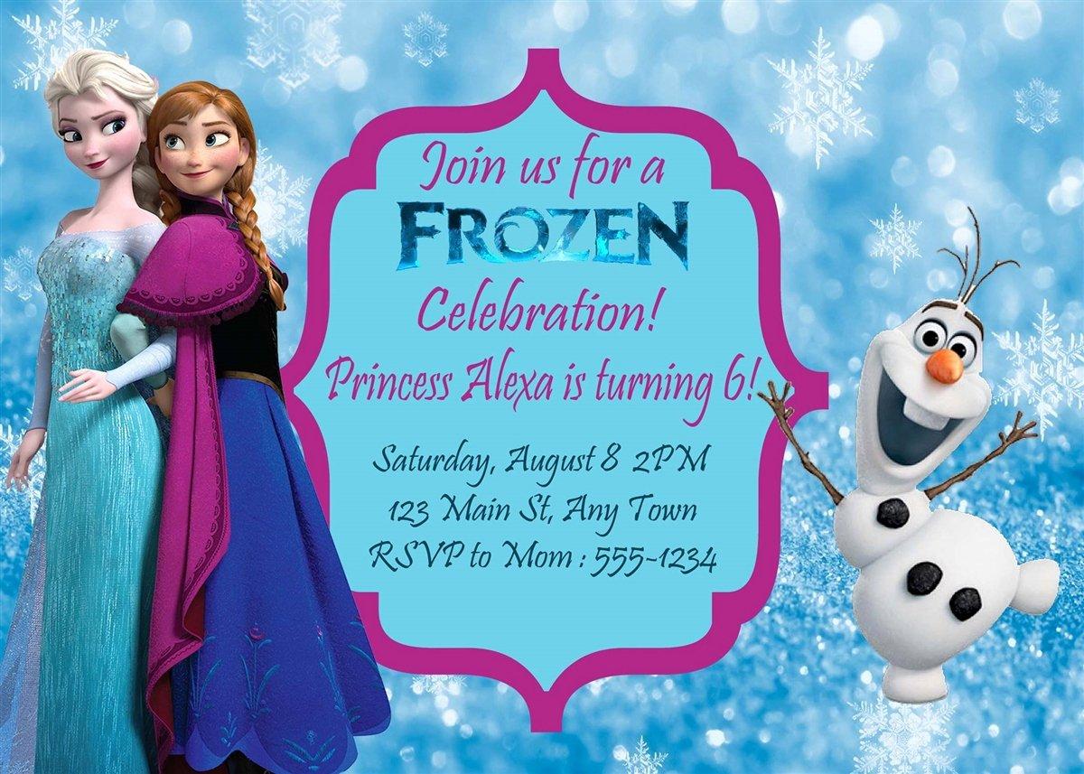 Frozen Party Invitation Template Lovely Birthday Invitation Frozen theme