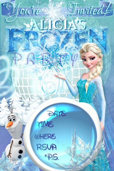 Frozen Party Invitation Template Lovely Frozen Invitation Elsa Olaf Disney Girls Winter Ice Party