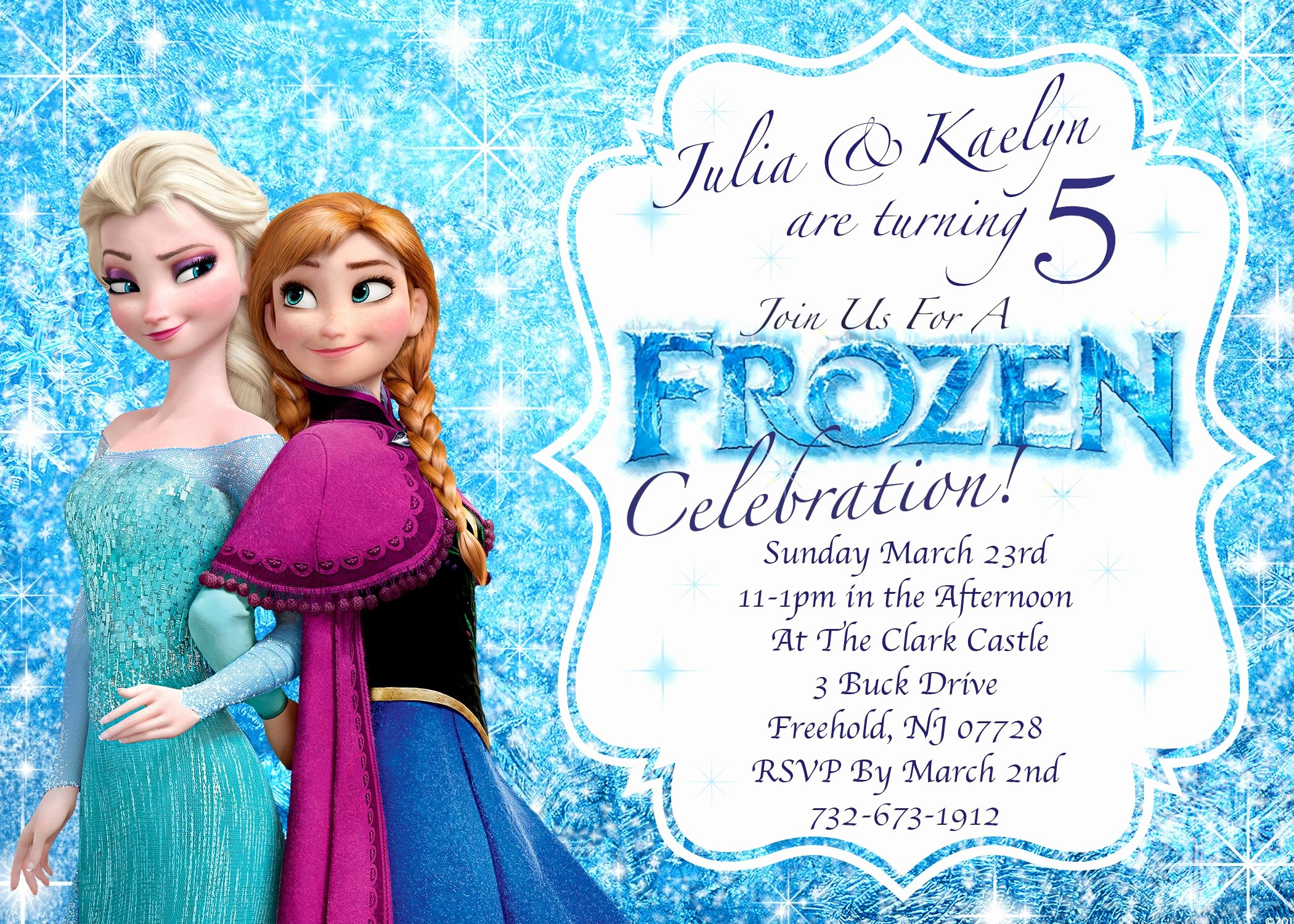 Frozen Party Invitation Template Luxury Frozen Invitations