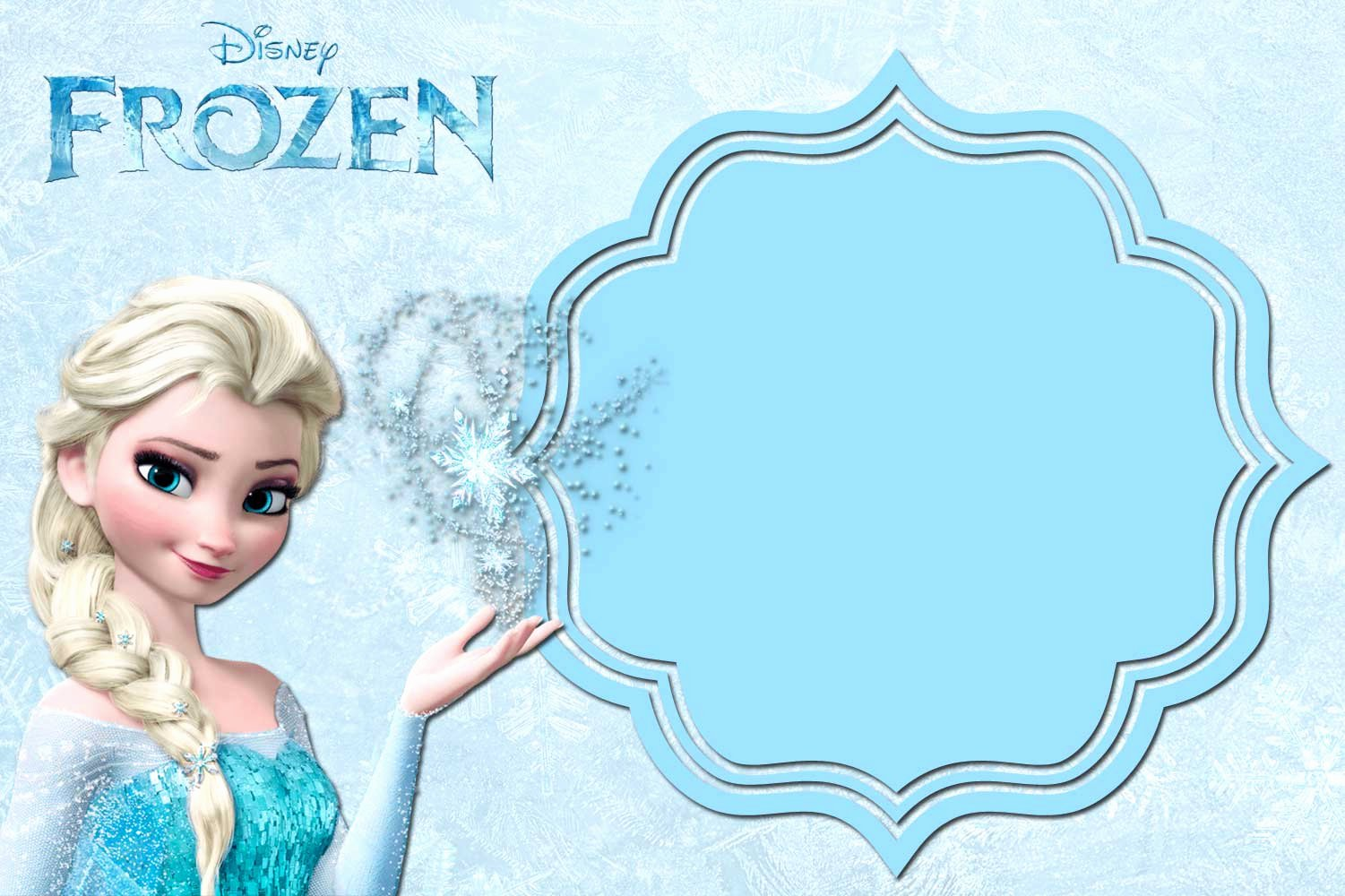 Frozen Party Invitation Template New Free Printable Frozen Anna and Elsa Invitation Templates