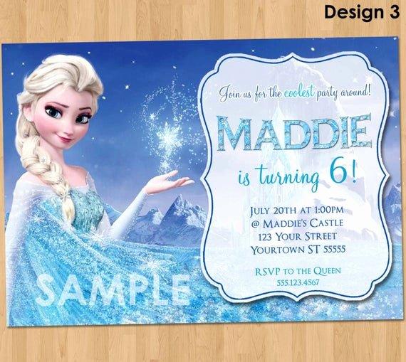 Frozen Party Invitation Template Unique Frozen Birthday Invitation Elsa Frozen Invitation