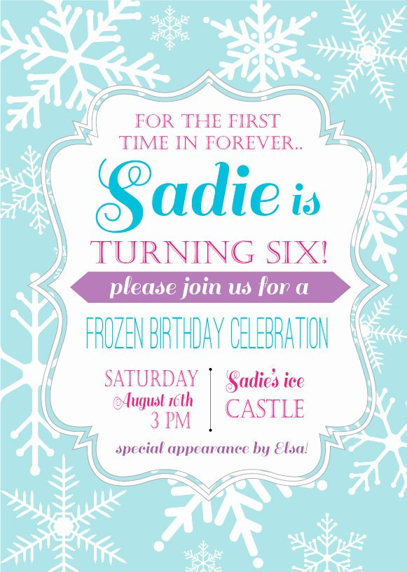 Frozen Party Invitation Template Unique Frozen Birthday Party