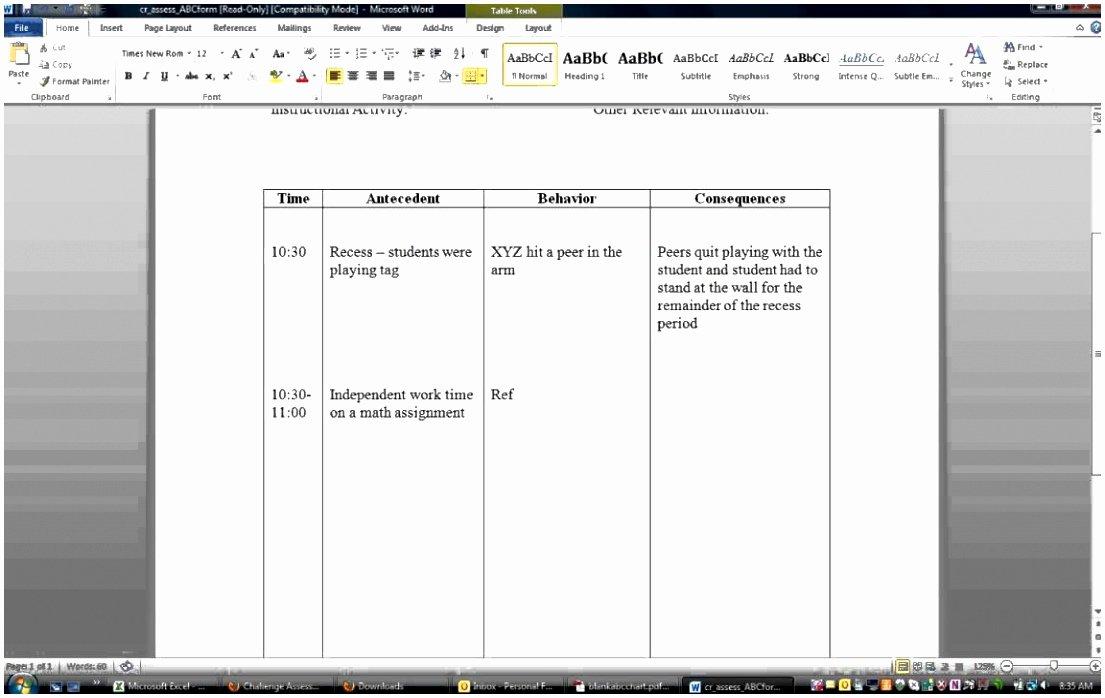 Functional Behavior assessment Template Fresh 6 Functional Behavior assessment Template Tuwyn