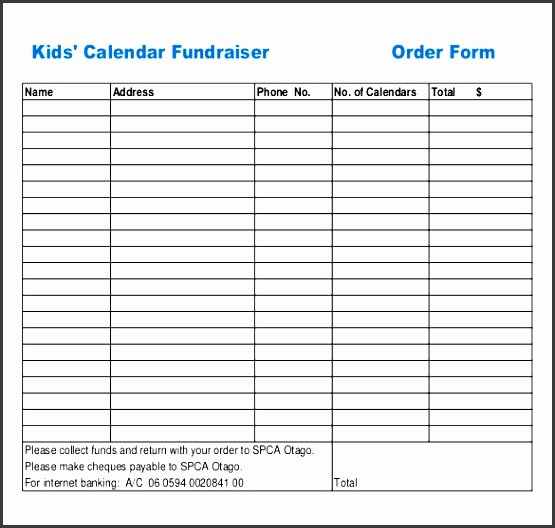 Fundraiser order form Template Word Beautiful 10 Download Free Sample order form Template