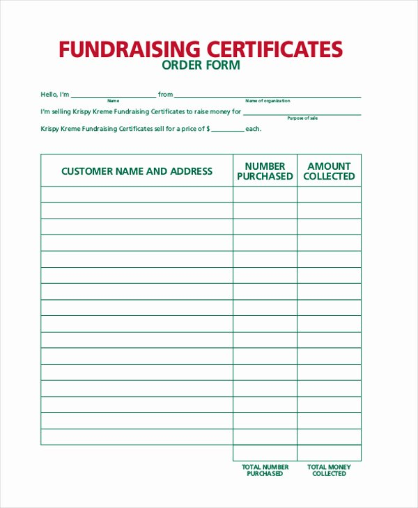 Fundraiser order form Template Word Beautiful Fundraiser order form