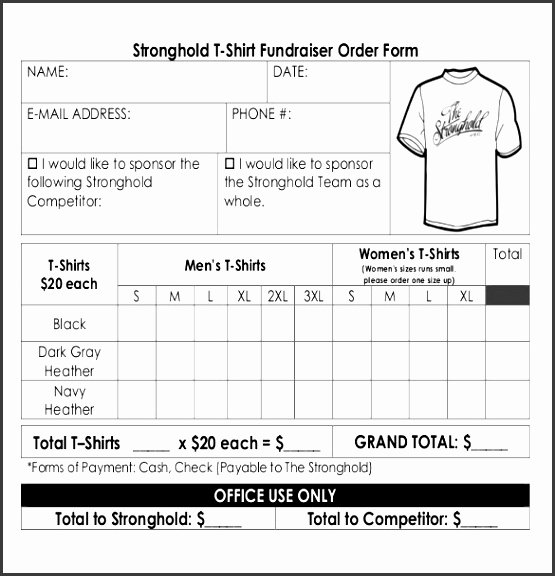 Fundraiser order form Template Word Best Of 6 Fundraiser order form Template Word Sampletemplatess