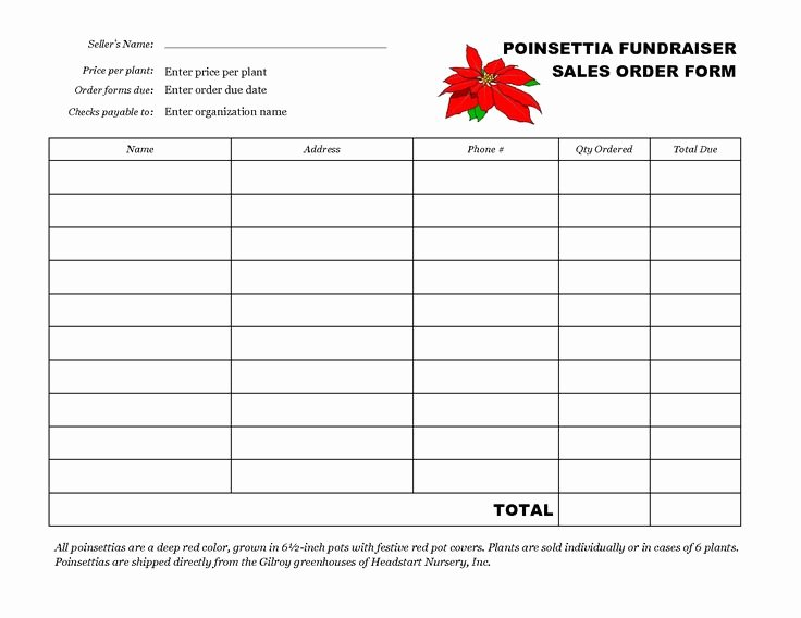 Fundraiser order form Template Word Best Of Free Fundraiser order form Template