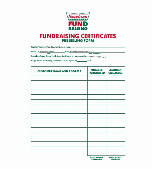 Fundraiser order form Template Word Fresh 20 order Template Word Excel Pdf