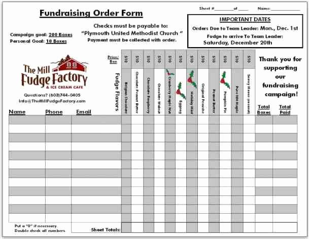 Fundraiser order form Template Word Unique Fundraiser order Templates Word Excel Samples