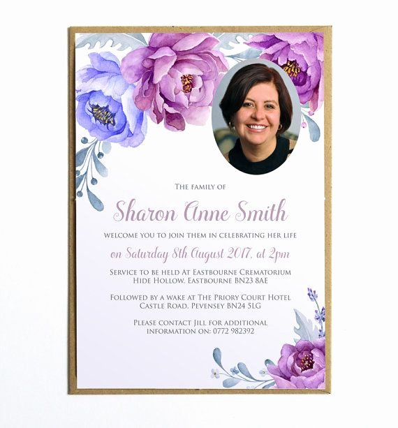 Funeral Announcement Templates Free Awesome Funeral Memorial Announcement Funeral Invitation Modern