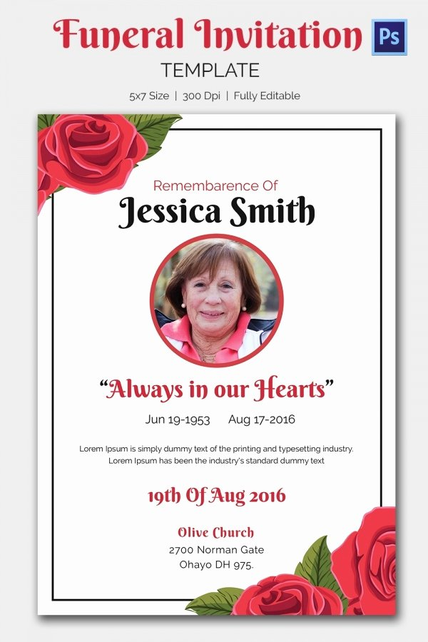 Funeral Announcement Templates Free Beautiful Funeral Invitation Template – 12 Free Psd Vector Eps Ai