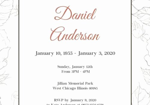 Funeral Announcement Templates Free Elegant Free Funeral Invitation Templates